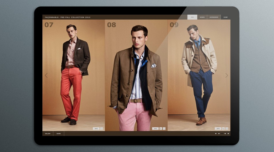 e81dd7edfdfbd7 Façonnable Fall 2012 Collection Pages   Branding by Design ...
