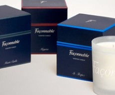 Façonnable candle packaging