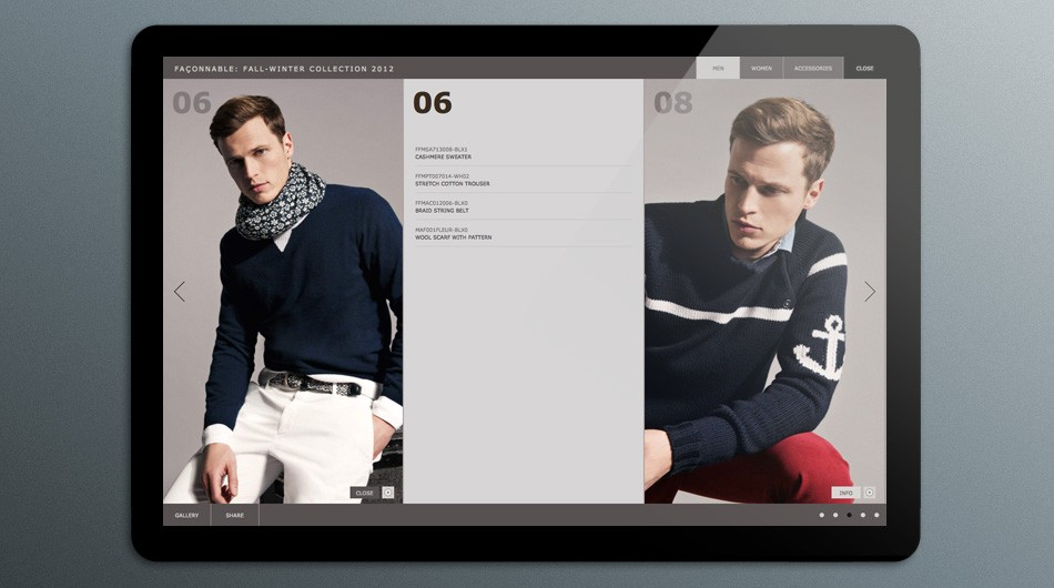 Façonnable Fall 2012 Collection Pages